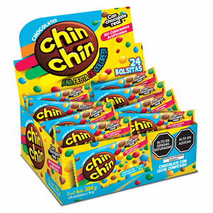 Chin Chin Grageas Caja 24 unid.